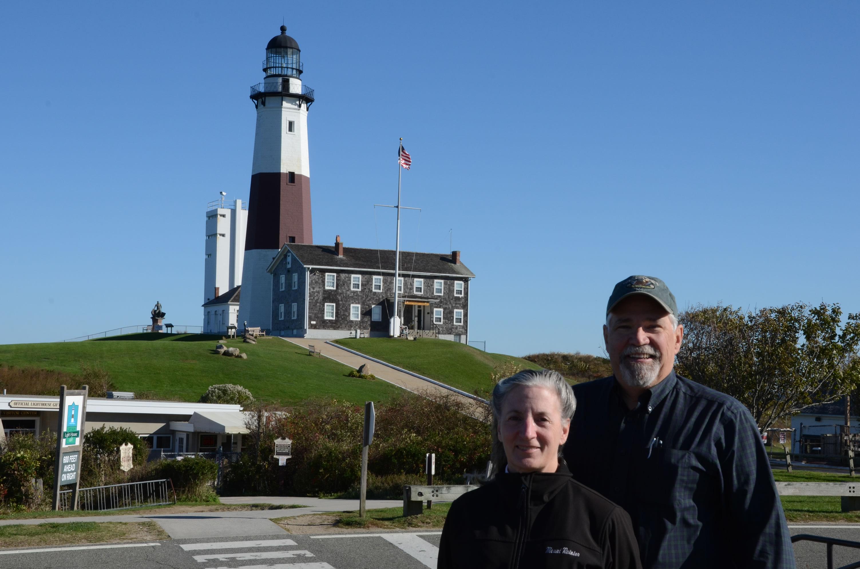 Louise & Bob at Montauk Point