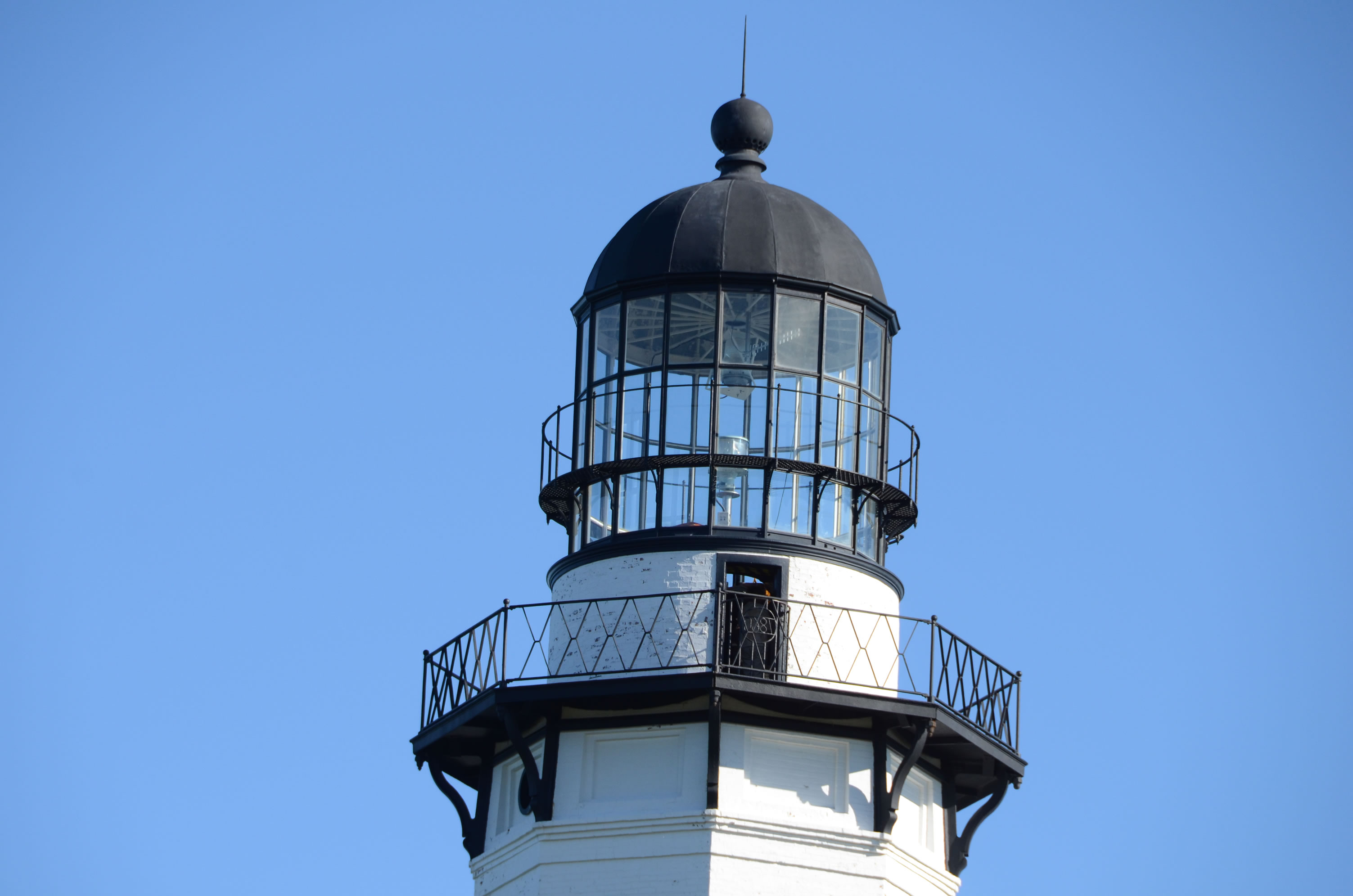 Close up of the light at Montauk