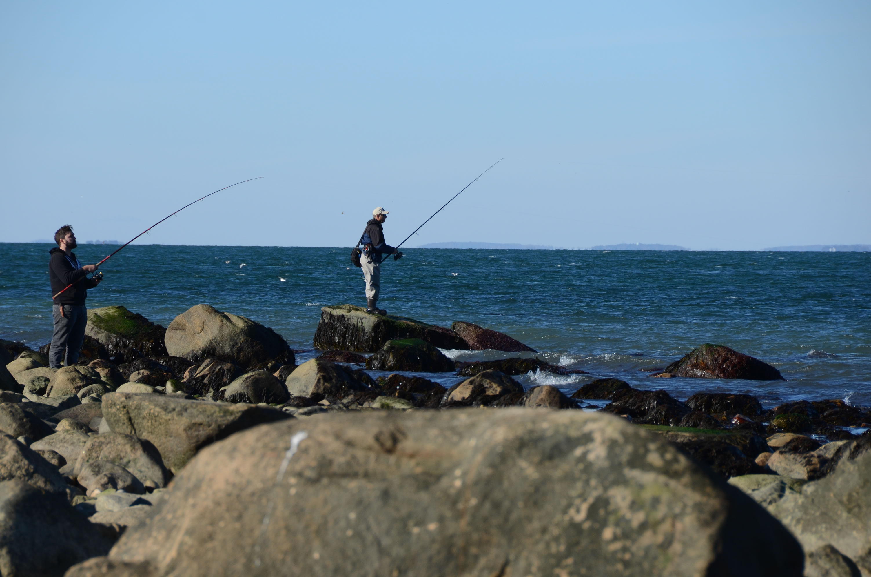 Fishermen at the point