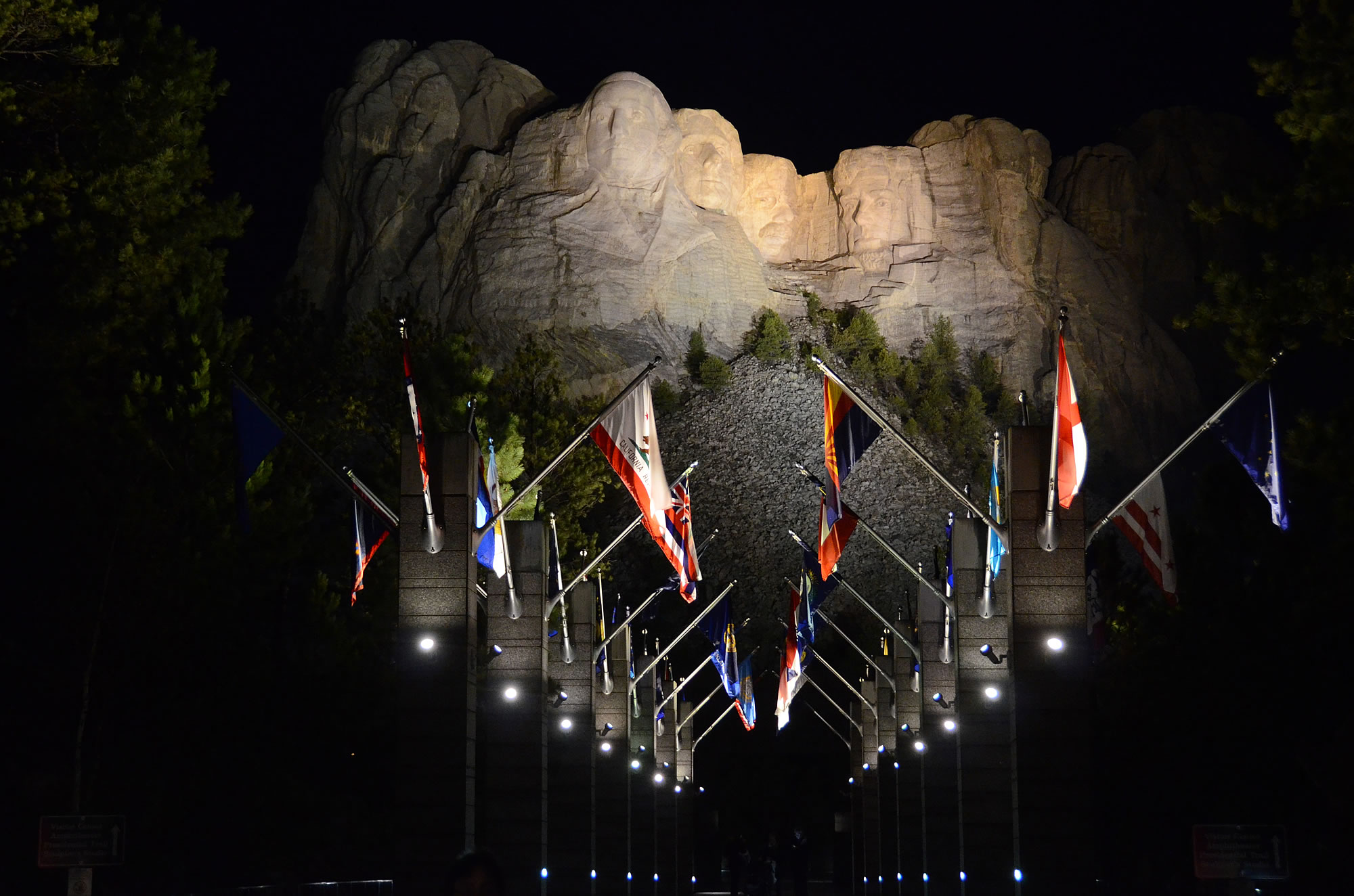 After Dinner We Went Off To See The Lighting Ceremony At Mt Rushmore For Evening And & Mount Rushmore Evening Lighting Ceremony | Iron Blog azcodes.com